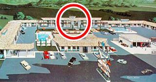 vintage postcard of Shepherd Hills Motel