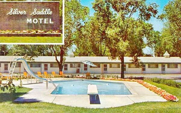 Dogwood In postcard, former Silver Saddle Motel