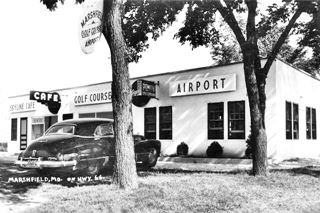 Vintage photo of the Skyline Cafe in Marshfield MO
