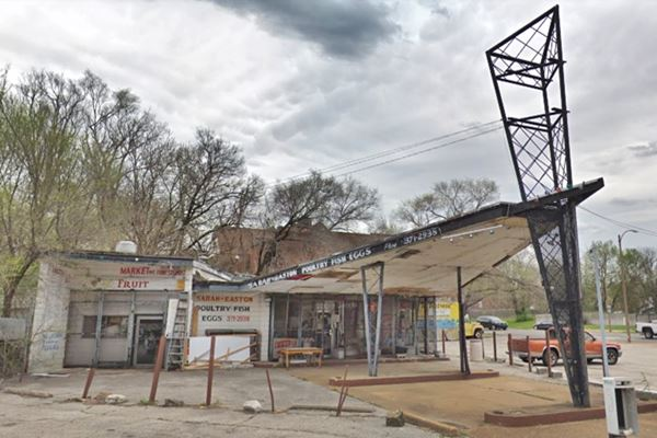 1960s Phillips gull wing gas station, St. Louis MO