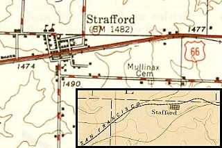 Two old maps of Strafford MO