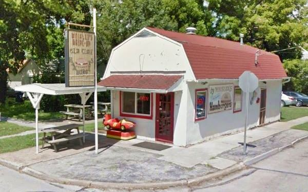 Street view of Whisler's Burger restaurant Carthage MO, Route 66