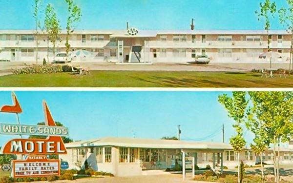 Vintage postcard showing the White Sands Motel in Lebanon, Mo, Route 66