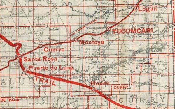 1912 Road Map National Old Trails