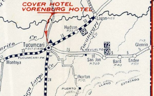 1925 Road Map National Old Trails