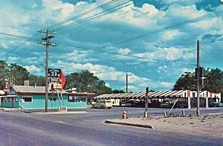 Vintage picture of the Ace Cafe in Albuquerque New Mexico