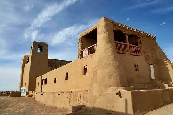 San Esteban church, the Mission at Acoma Pueblo, Route 66, New Mexico