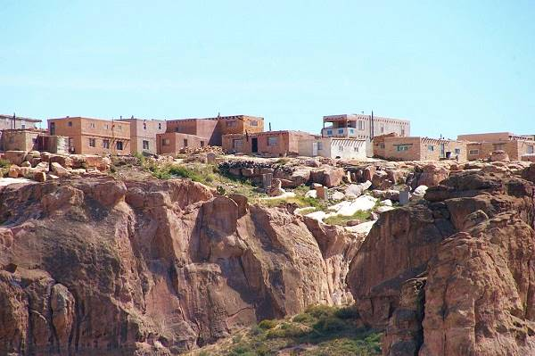 Buildings at Acoma Pueblo, Route 66, New Mexico