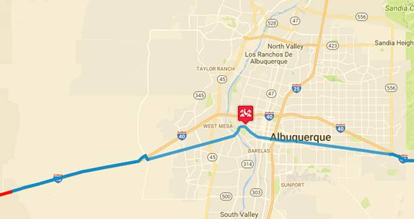 Albuquerque Route New Mexico - Albuquerque nm on us map