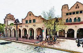 Railroad station in downtown Albuquerque, NM