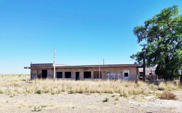 Abandoned hulk of the trading post building