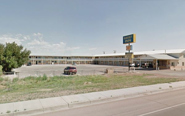 view of former Whiting motel, now Budget Inn, Gallup