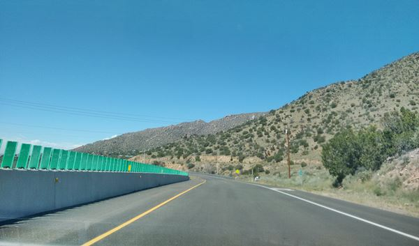 Past the Dead Man's Curve at Carnuel on Route 66 in New Mexico