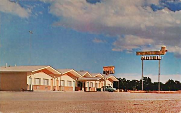 Continental Divide Whiting Bros motel postcard