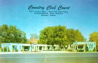 Country Club Court postcard, Albuquerque, NM