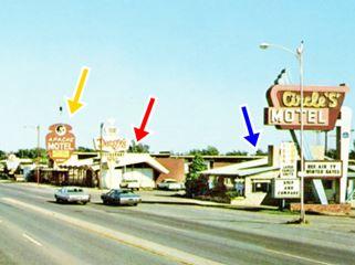 Apache Motel, Circle S motel and Denny's Tucumcari Diner, Route 66 Tucumcari
