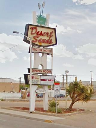 Desert Sands Motel neon sign