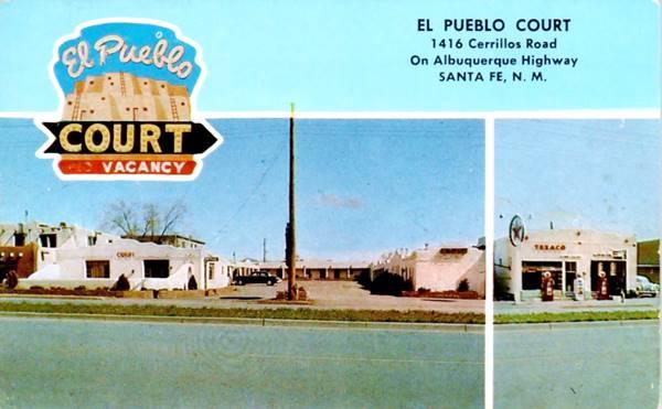 Postcard of the El Pueblo Court, Santa Fe NM