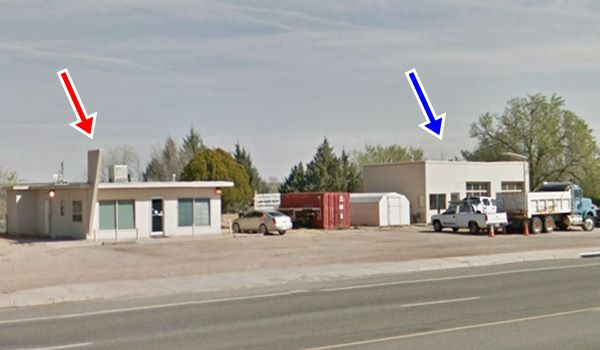current view of old Ellis truck stop and former Mobil gas station