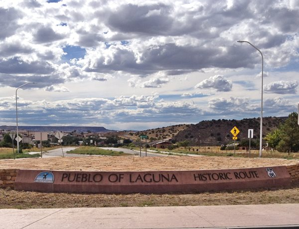 Entrance to Laguna on Route 66 in New Mexico