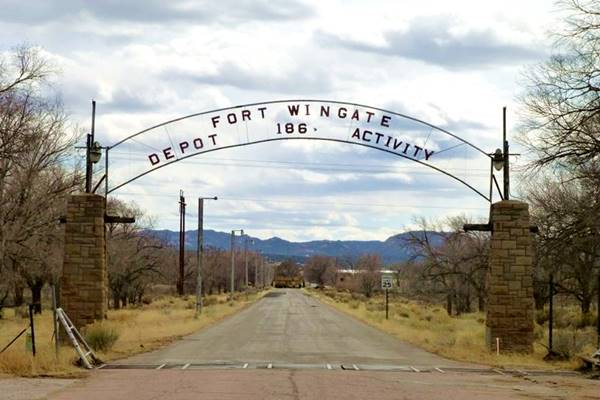 Fort Wingate entrance gate, near Route 66, Wingate Route 66, New Mexico