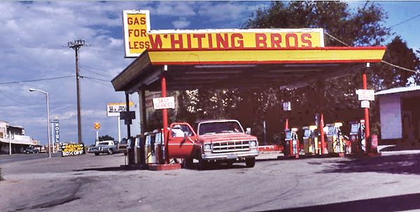 Gallup Whiting Bros gas station in 1980