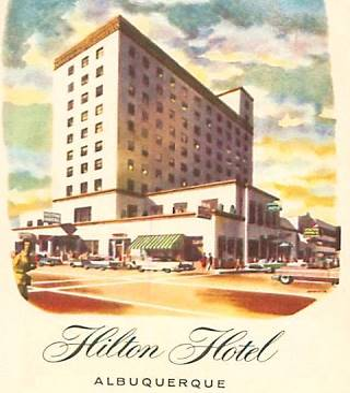 Old Hilton Hotel postcard
