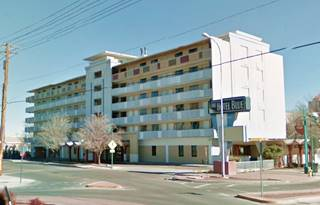 current appearance of former Quality Inn, now Hotel Blue