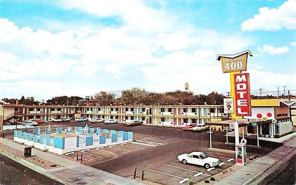 Vintage 1950s postcard of the Imperial 400 Motel Albuquerque NM