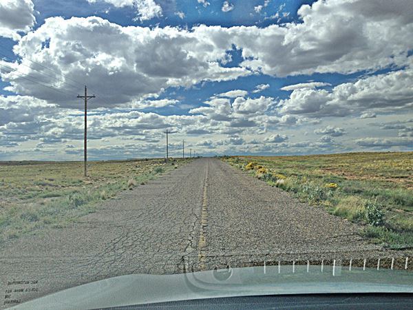 Old road, Route 66 in Mesita, New Mexico
