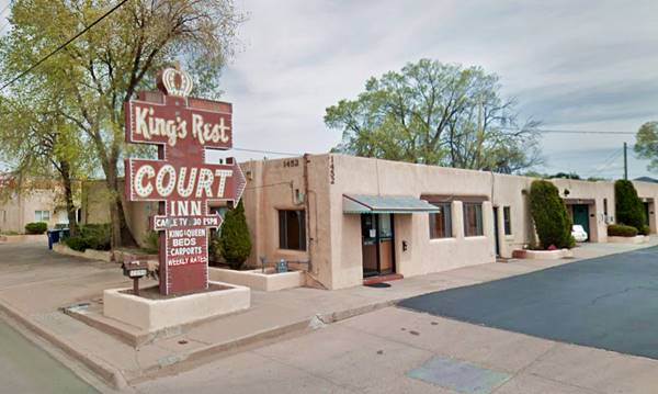 present appearance of the King's Rest Court Inn Santa Fe NM