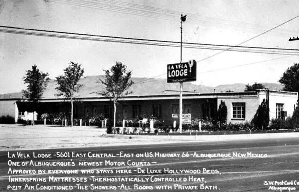 Vintage picture of the La Vela motelAlbuquerque New Mexico