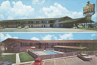 Lamplighter Motel postcard