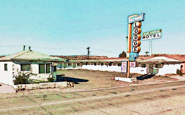 a classic motel, Lariat Lodge Gallup, Route 66, New Mexico