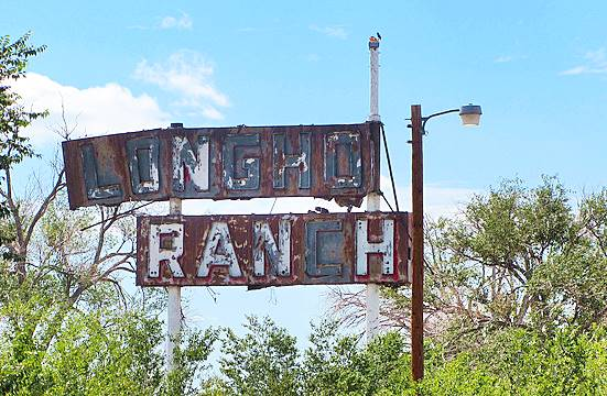 Longhorn Ranch Sign, Moriarty, New Mexico