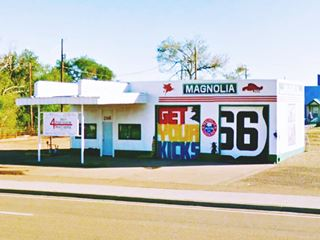 Restored Magnolia gas station, Route 66 Tucumcari