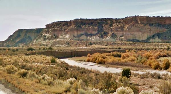 The Valley of the Rio Puerco of the West in Manuelito, New Mexico. Route 66