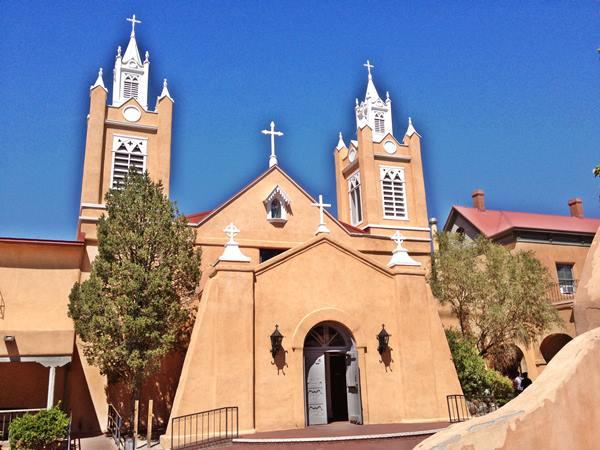 Historic San Felipe de Neri Church in Albuquerque, Route 66, New Mexico