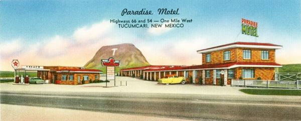 Paradise Motel today, Route 66 Tucumcari