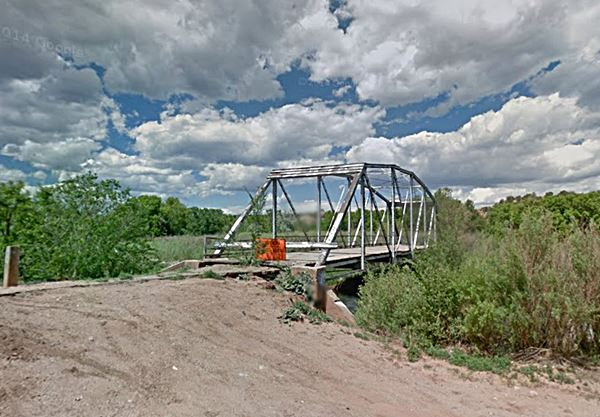 Old Pecos River Bridge of Route 66 at San Jose, New Mexico