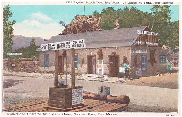 Pigeon Ranch at Glorieta PAss, a 1940 postcard