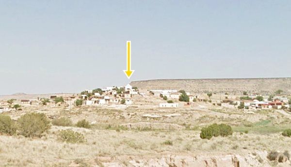 Laguna pueblo seen from the south, New Mexico