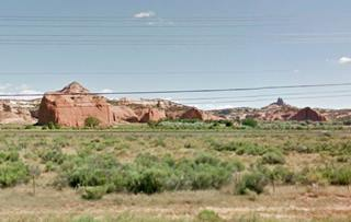 Pyramid Rock and Navajo Church, near Gallup, NM