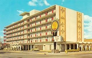 Quality Inn motel in a vintage postcard, Albuquerque, NM
