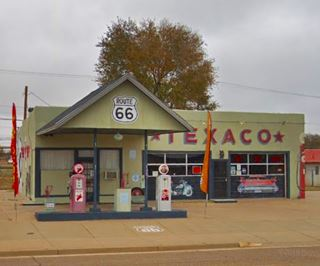 Restored Texaco, Route 66 Tucumcari