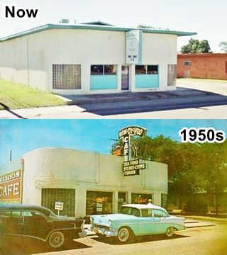 Ran Dy Voo then and now, Route 66 Tucumcari
