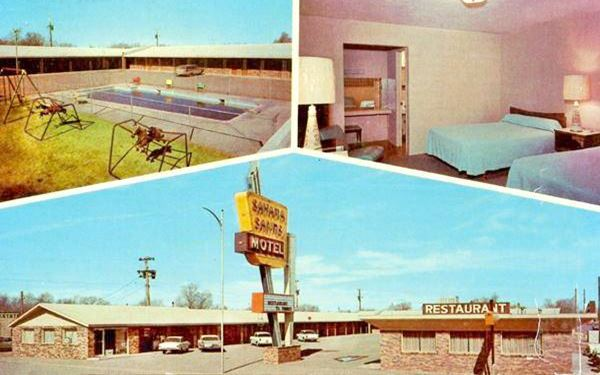 vintage postcard of Sahara Sands Motel, Tucumcari NM