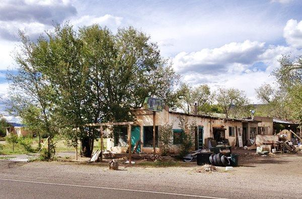 Cafe, in ruins, on Route 66 in San Fidel, NM
