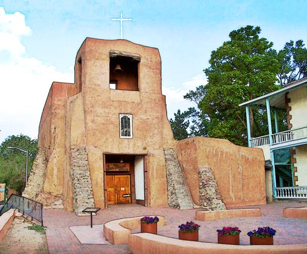 San Miguel Mission, oldest church in the U.S. in Santa Fe, NM