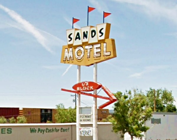 Sign of Sands Motel in Grants, Route 66, New Mexico